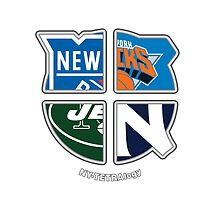 New York Pro Sports TETRAlogy! Yankees, Jets, Knicks and Rangers by Sochi