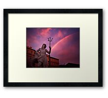 Neptune and his fork Framed Print