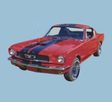Red 1966 Ford Mustang Fastback Kids Clothes