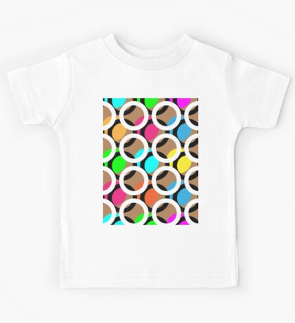 Ring and color abstract background pattern.  Kids Tee