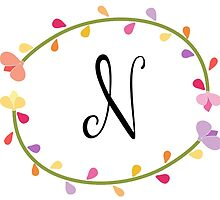 Beautiful Intials ~ N by mezzilicious