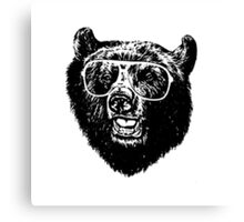 Cool Bear Canvas Print