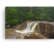 Rainy day at Diana's Bath - NH Canvas Print