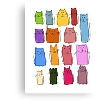 Cute cats, childish style. Canvas Print