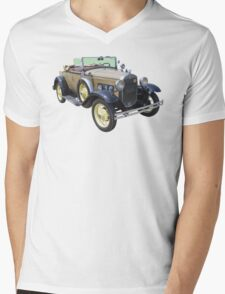 1931 Ford Model A Cabriolet Antique Car Mens V-Neck T-Shirt