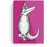 Yogi Crocodile Tree pose Metal Print