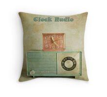 retro clock radio Throw Pillow