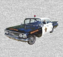 1960 Chevrolet Biscayne Police Car Kids Tee