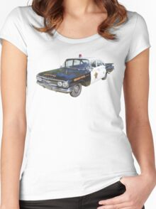1960 Chevrolet Biscayne Police Car Women's Fitted Scoop T-Shirt