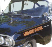 1960 Chevrolet Biscayne Police Car Sticker