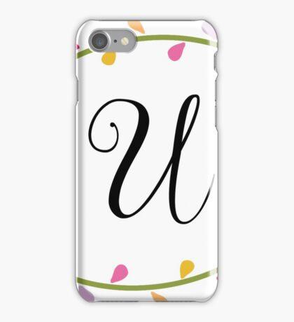 Beautiful Intials ~ U iPhone Case/Skin