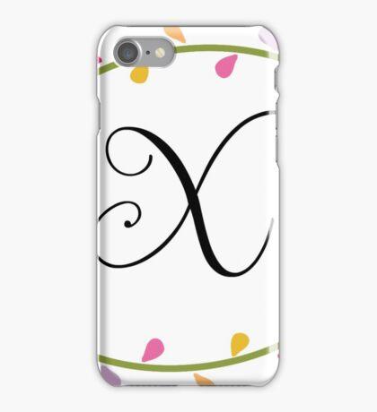 Beautiful Intials ~ X iPhone Case/Skin