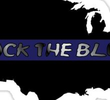 Back the Blue United States. Sticker