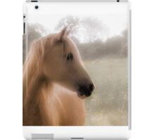 Soft focus portrait of pet horse iPad Case/Skin
