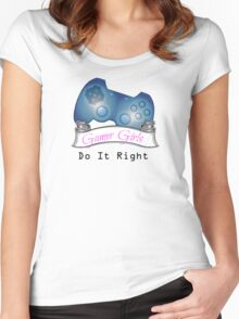Gamer Girls Do it Right Women's Fitted Scoop T-Shirt