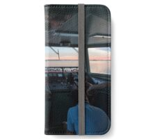 Sunset from Burano Air Buses iPhone Wallet/Case/Skin