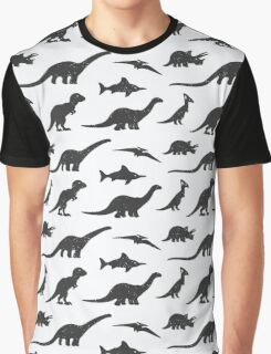Dinosaurs silhouettes Graphic T-Shirt