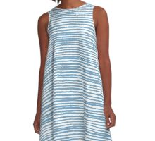 Blue Stripes #2 A-Line Dress