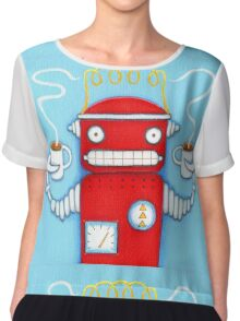 Welcome to the Robo Cafe Chiffon Top