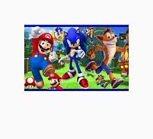Sonic-Mario Bros & Crash Unisex T-Shirt