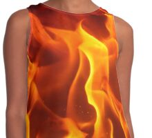 fire - flames Contrast Tank