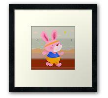 Bunny Runner Framed Print