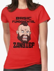 Basic fundamental Zangief  Womens Fitted T-Shirt