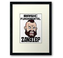 Basic fundamental Zangief  Framed Print