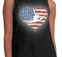 USA Gymnastics Silhouette Heart Contrast Tank