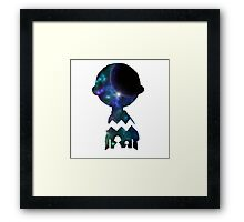 Snoopy And Charlie Space Art Framed Print