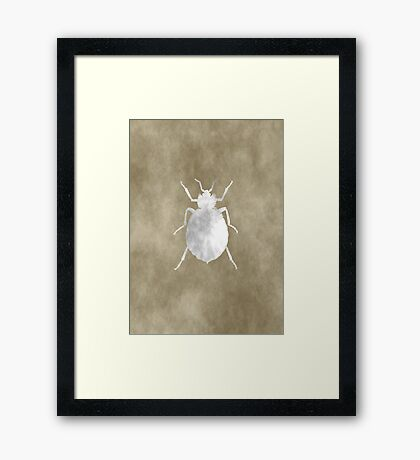 Grunge Insect Framed Print