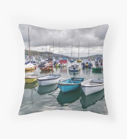 Lyme Regis Harbour Throw Pillow