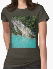 Turquoise Blue Water Womens Fitted T-Shirt