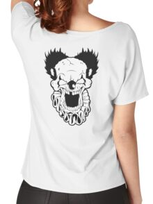 Maniacal Skull Clown Women's Relaxed Fit T-Shirt