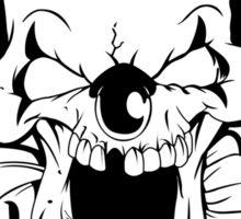 Maniacal Skull Clown Sticker