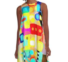 Feeling too much colour A-Line Dress