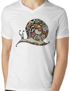 Art snail, ornate zentangle style Mens V-Neck T-Shirt