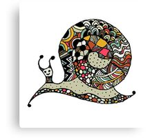 Art snail, ornate zentangle style Canvas Print