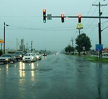 Merrily Driving Through The Tornado by WildestArt