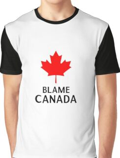 Blame Canada South Park Bigger Longer And Uncut Funny Quote Graphic T-Shirt
