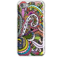 Abstract hand drawn ornament, background iPhone Case/Skin