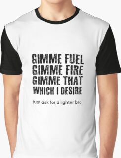 Fuel Metallica Funny Joke Humor Pun Graphic T-Shirt