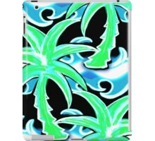 Palm, tree, surf, surfing, beach, sea, ocean, wave, Hawaii, playa, surfboard,  iPad Case/Skin