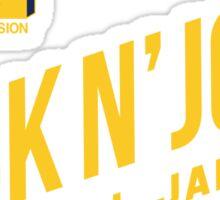 Violators Team Second Annual Rock N' Jock B-Ball Jam 1992 Sticker