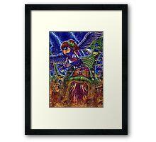 Kid Icarus: Pit vs Medusa Framed Print