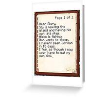 Nova's Diary Greeting Card