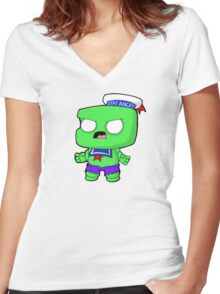 Stay Angry Women's Fitted V-Neck T-Shirt