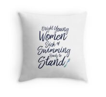 Bright Young Women Throw Pillow