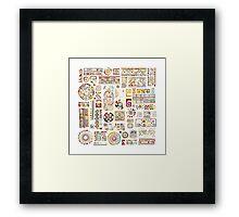 Ethnic handmade ornament Framed Print