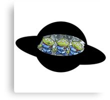 Toy Story Alien Riding Ufo Canvas Print